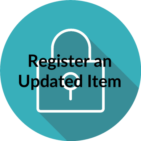 Register an updated item