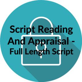 Script Reading and Appraisal – Full Length Script